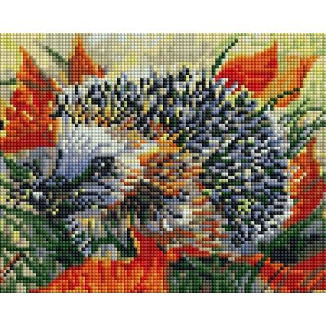 Ёжик в осеннем лесу Алмазная вышивка мозаика Белоснежка 429-ST-PS
