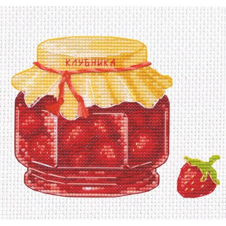 Клубничное варенье Набор для вышивания Овен 1230