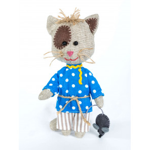 Домовитый кот Василий Набор для создания игрушки своими руками