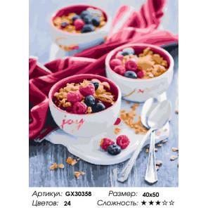 Сложность и количество цветов Утреннее наслаждение Раскраска картина по номерам на холсте GX30358