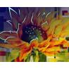 Большой подсолнух Картина по номерам люминесцентная LPK24031
