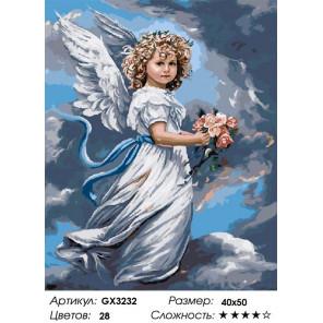 Сложность и количество цветов Небесный ангел Раскраска картина по номерам на холсте GX3232