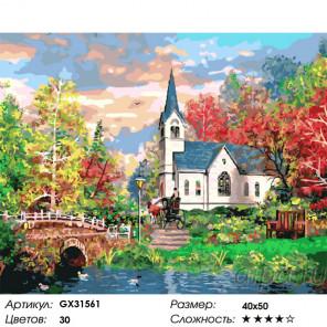 Сложность и количество цветов Старинный дом Раскраска картина по номерам на холсте GX31561