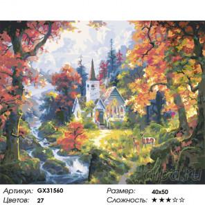 Сложность и количество цветов Домик у горного ручья Раскраска картина по номерам на холсте GX31560