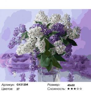 Сложность и количество цветов Светлые краски сирени Раскраска картина по номерам на холсте GX31204