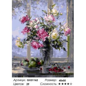 Сложность и количество цветов Распустившиеся розы Раскраска картина по номерам на холсте GX31162