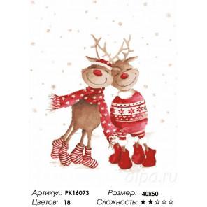 Сложность и количество цветов Рождественский бум Раскраска картина по номерам на холсте PK16073