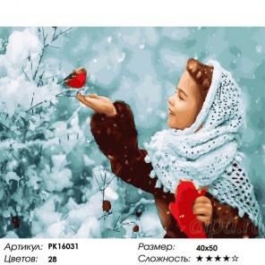 Сложность и количество цветов В пуховом платке Раскраска картина по номерам на холсте PK16031