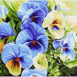 Голубые россыпи Канва с рисунком для вышивки Матренин посад