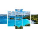 Лазурный пляж Модульная картина по номерам на холсте с подрамником WX1115