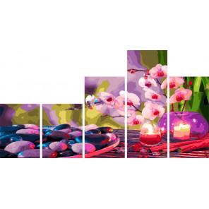 Нежные ароматы Модульная картина по номерам на холсте с подрамником WX1111
