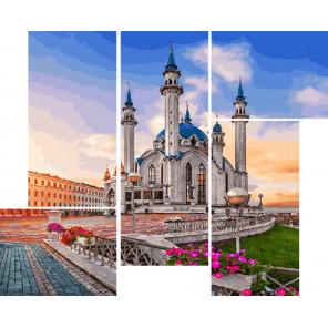 Мечеть в лучах солнца Модульная картина по номерам на холсте с подрамником WX1060