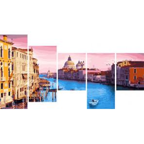 Утро в Венеции Модульная картина по номерам на холсте с подрамником WX1056