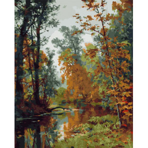 Золотая осень Раскраска картина по номерам на холсте Z-GX29127