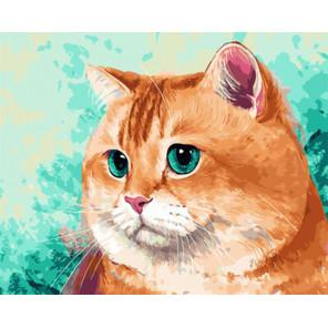 Упитанный кот Раскраска картина по номерам на холсте Z-GX29469