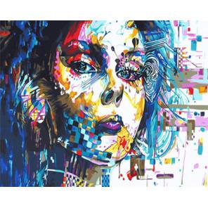 Девушка абстракция Раскраска картина по номерам на холсте Z-GX29766