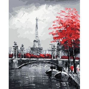 Канал на фоне Эйфелевой башни Раскраска картина по номерам на холсте Z-GX29901