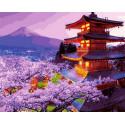 Пагода Раскраска картина по номерам на холсте Z-GX30099