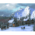 Снежное королевство Раскраска картина по номерам на холсте Z-GX30722