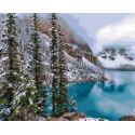 Изумрудное озеро Раскраска картина по номерам на холсте Z-GX30898