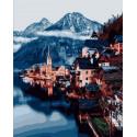 Городок в горах Раскраска картина по номерам на холсте Z-GX31191