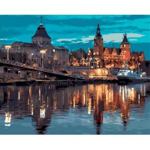 Европейский город Раскраска картина по номерам на холсте Z-GX31571