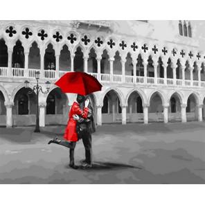 Черно-красное свидание Раскраска картина по номерам на холсте Z-GX31606
