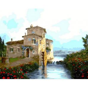 Старая водяная мельница Раскраска картина по номерам на холсте Z-GX31616