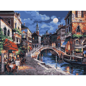 Ночные огни Венеции Раскраска картина по номерам на холсте Z-EX5349