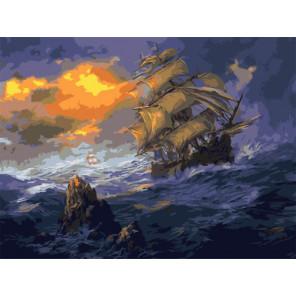 Шторм Раскраска картина по номерам на холсте Z-EX5815