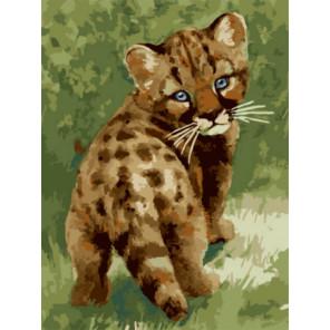Маленький леопард Раскраска картина по номерам на холсте Z-EX5801