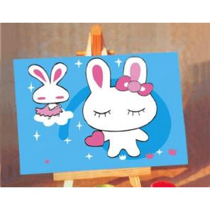 Зайки Раскраска картина по номерам PA043