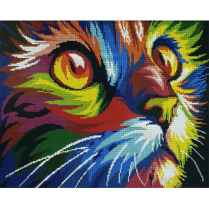 Радужный кот Алмазная мозаика вышивка Painting Diamond GF3750