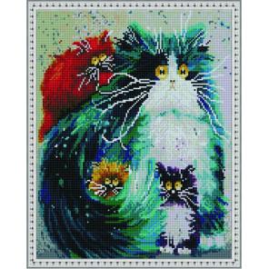 Пять оттенков кошек Алмазная вышивка мозаика на подрамнике