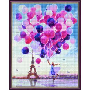 Шары в Париже Алмазная вышивка мозаика на подрамнике