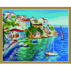 Лазурное побережье Алмазная вышивка мозаика на подрамнике