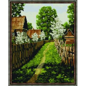 Яблони цветут Алмазная вышивка мозаика на подрамнике
