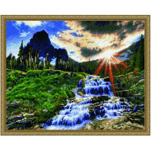 Журчание реки Алмазная вышивка мозаика на подрамнике