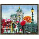Лондон осенью Алмазная вышивка мозаика на подрамнике