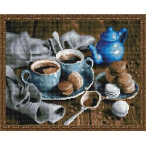 Кофейная пара Алмазная вышивка мозаика на подрамнике