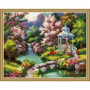 Беседка у ручья Алмазная вышивка мозаика на подрамнике