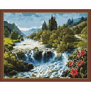 Водопад Алмазная вышивка мозаика на подрамнике
