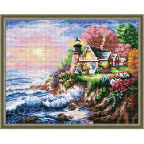 Дом с маяком Алмазная вышивка мозаика на подрамнике