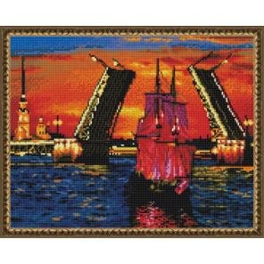 Развод мостов Алмазная вышивка мозаика на подрамнике