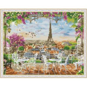 Кафе на террасе Алмазная вышивка мозаика на подрамнике