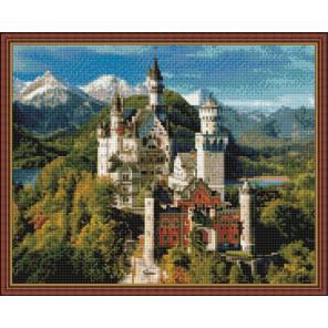 Замок в Германии Нойшванштайн Алмазная вышивка мозаика на подрамнике