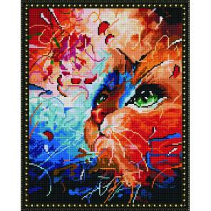 Кот в абстракции Алмазная вышивка мозаика на подрамнике