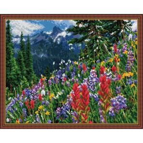 Луг в горах Алмазная вышивка мозаика на подрамнике