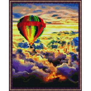 Шар над облаками Алмазная вышивка мозаика на подрамнике