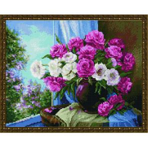 Натюрморт из роз Алмазная вышивка мозаика на подрамнике